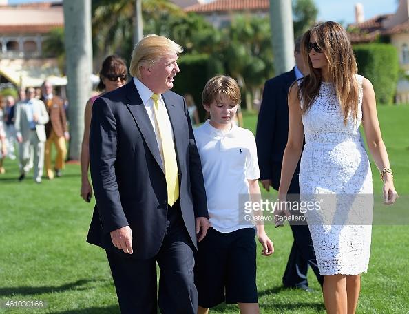 Tỷ phú Doanld Trump, bà Melania Trump và cậu con trai chung 10 tuổi.