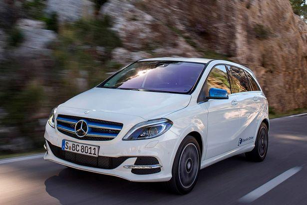 Chiếc Mercedes B-Class Electric Drive trị giá khoảng 32.670 Bảng