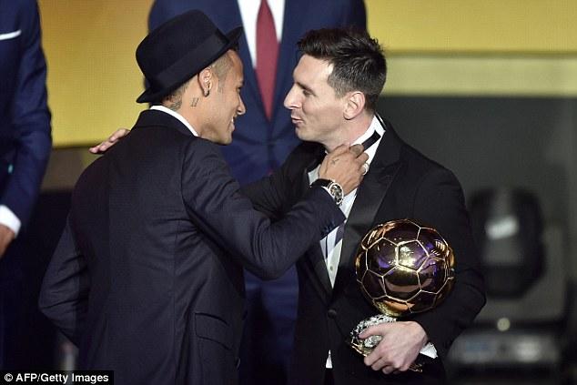 Messi và Neymar chọn nhau, chọn thêm Suarez trong quá trình bỏ phiếu bình chọn QBV FIFA 2015.