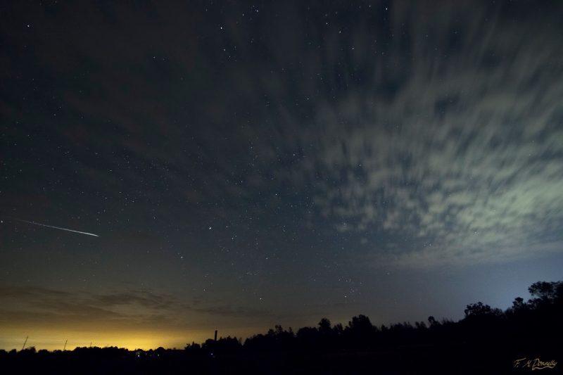 Bầu trời ở Ontario (Canada) vào ngày 11/8 với sự xuất hiện của Perseids.