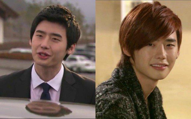 Lee Joong Suk hợp với mái tóc ngắn (trái) hơn là mái tóc dài như ngày xưa.