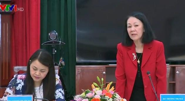 Trưởng Ban Dân vận Trung ương Trương Thị Mai tại buổi làm việc với Trung ương Hội Liên hiệp Phụ nữ Việt Nam