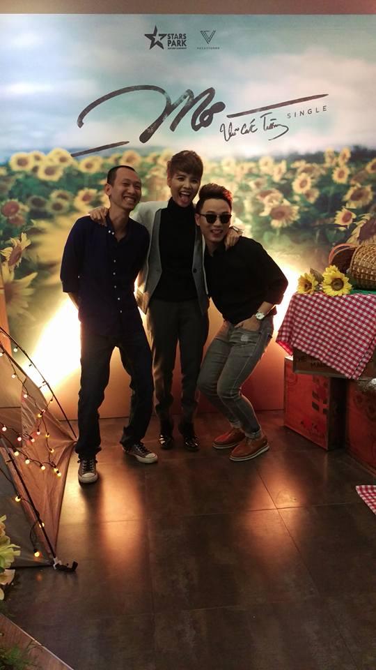Nhạc sĩ Thanh Tâm, Vũ Cát Tường và ca sĩ Trúc Nhân. (Ảnh: Lê Thanh Tâm FB)