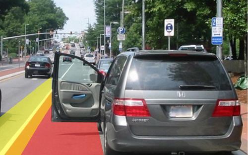 Có nhiều tai nạn thương tâm xảy ra do mở cửa xe không đúng cách. (Ảnh minh họa: Internet)