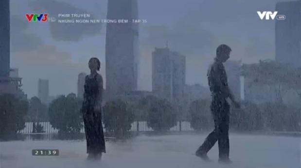 Cảnh chia tay trong màn mưa của Trúc và Quốc