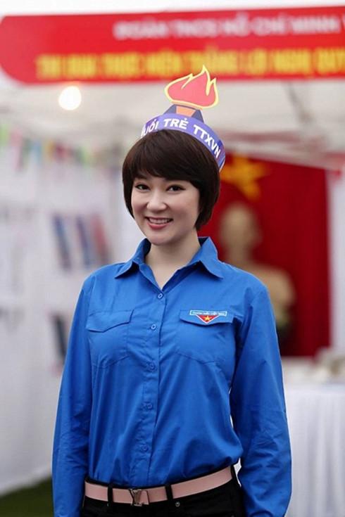 Hoa hậu Nguyễn Thị Huyền tái xuất với mái tóc ngắn cá tính (Ảnh: Facebook nhân vật)