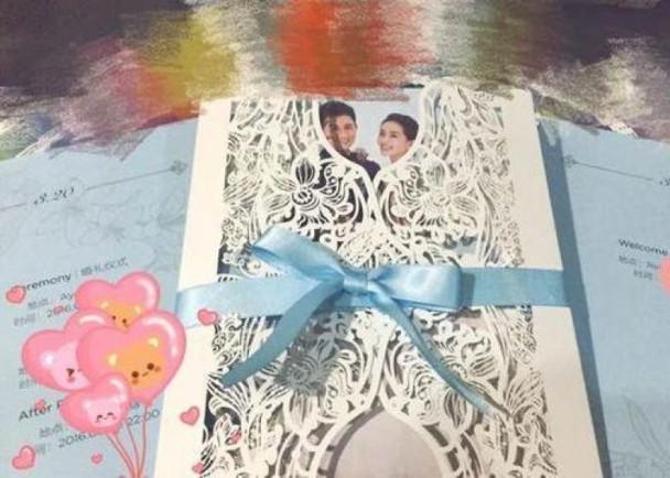 Thiệp cưới cầu kỳ của cặp đôi