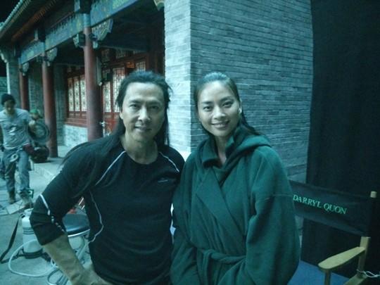 Ngô Thanh Vân và ngôi sao võ thuật Chung Tử Đơn, người đảm nhận vai nam chính trong dự án phim này