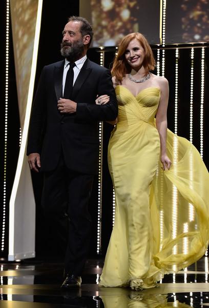 Diễn viên Vincent Lindon và Jessica Chastain.