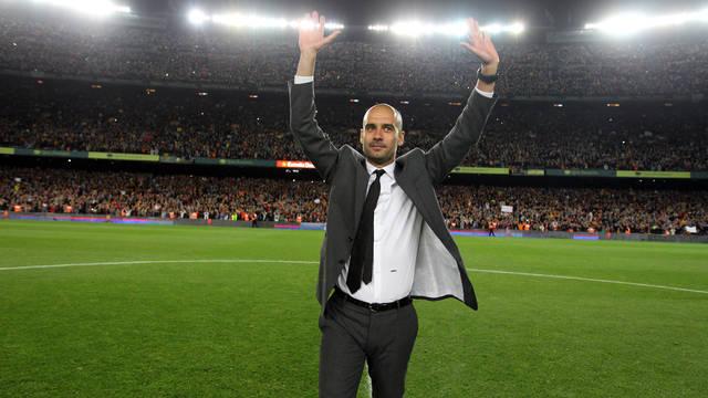Pep Guardiola sẽ trở lại sân Camp Nou với vai trò HLV của Manchester City