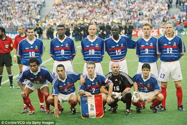 Thế hệ vàng của ĐT Pháp năm 1998.