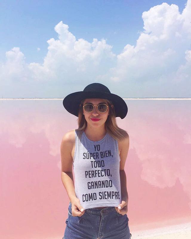 Hồ nước màu hồng tự nhiên ở Mexico trở thành điểm check in thu hút giới trẻ