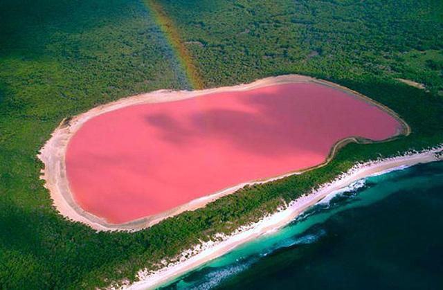 Hồ nước màu hồng dâu ở Australia