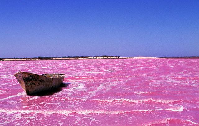 Hồ Lac Rose ở Senegal
