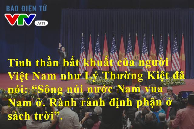 Câu trích dẫn người anh hùng Lý Thường Kiệt của ông Obama đã làm ấm lòng người dân Việt Nam
