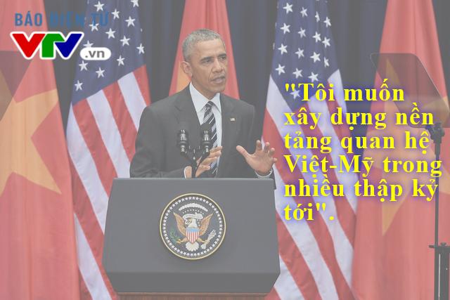 Niềm tin về sự hợp tác của Việt Nam và Mỹ trong tương lai được Tổng thống Obama nhắc đến nhiều lần trong bài phát biểu
