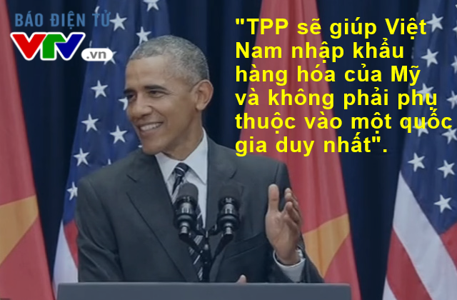 Trong chuyến thăm Việt Nam, ông Obama không ít lần thể hiện sự tin tưởng vào thành công của Hiệp định TPP