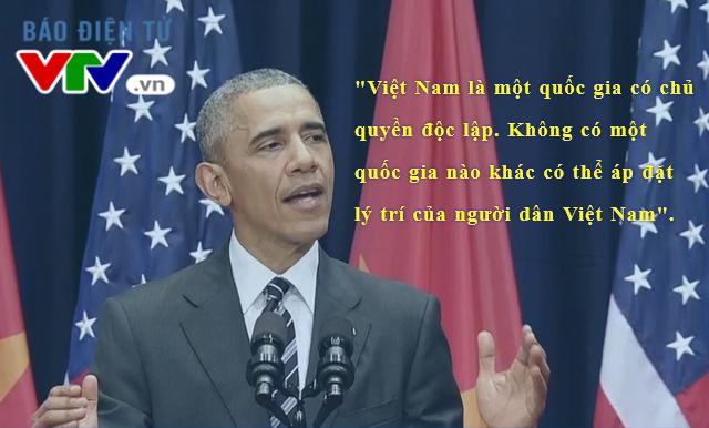 Độc lập, chủ quyền của Việt Nam được Tổng thống Obama nhắc đến nhiều lần trong bài phát biểu