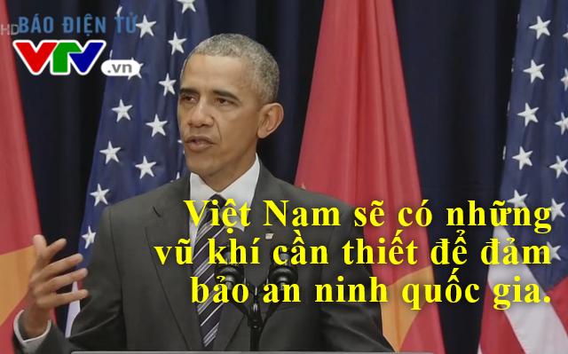 Tổng thống Mỹ cam kết sẽ đào tạo, cung cấp thiết bị cho cảnh sát biển Việt Nam.