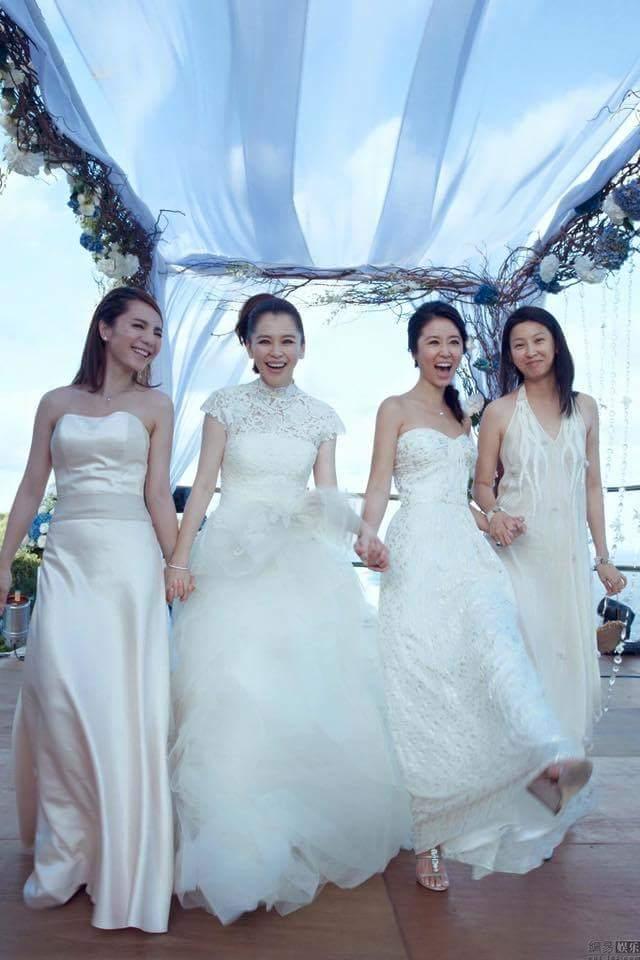 Lâm Tâm Như làm phù dâu trong đám cưới Từ Nhược Tuyên.