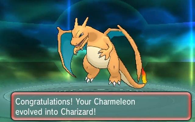 Pokémon lửa Charmeleon tiến hóa thành Charizard