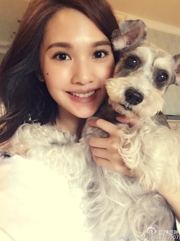 Một trong hai bức ảnh được Dương Thừa Lâm chia sẻ trên trang Weibo của cô.