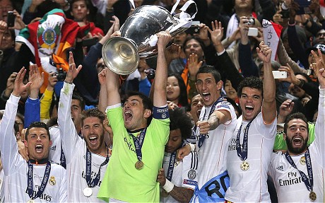 Real Madrid đăng quang danh hiệu Champions League thứ 10 sau khi đánh bại Atletico ở chung kết năm 2014 (Ảnh: AP)
