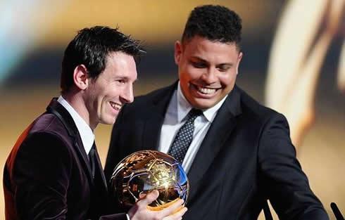 Ronaldo từng có mặt trong lễ trao giải QBV FIFA của Messi