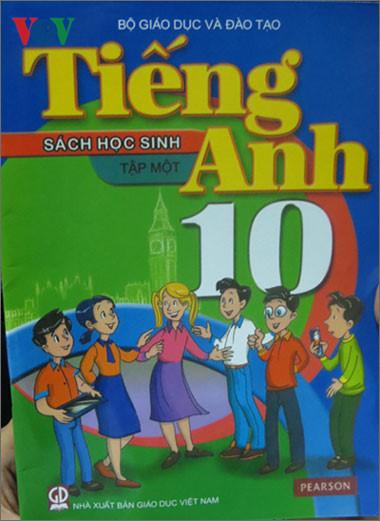 Bìa cuốn sách giáo khoa tiếng Anh lớp 10 mới sẽ được giảng dạy trong năm học 2016-2017
