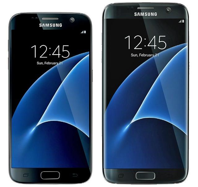 Mặt trước của Galaxy S7 và Galaxy S7 Edge