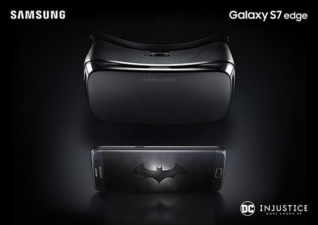 Galaxy S7 edge Injustice Edition đi kèm với kính thực tế ảo Gear VR màu đen