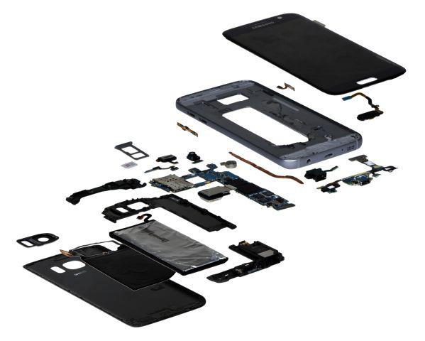 Cấu tạo Galaxy S7 (Ảnh: PhoneArena)