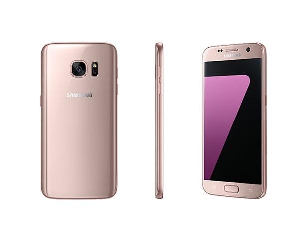 Sam sung Galaxy S7 và S7 edge phiên bản màu vàng hồng mới ra mắt ngày 20/4. (ẢNh: Zing)