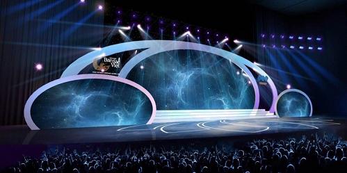 Phối cảnh sân khấu đêm bán kết Hoa hậu Bản sắc Việt toàn cầu