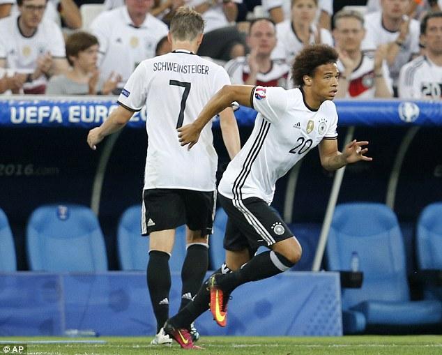 Sane trong màu áo ĐT Đức tại EURO 2016