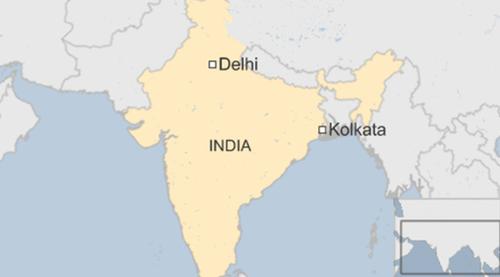 Vị trí thành phố Kolkata, Ấn Độ. (Ảnh: BBC)