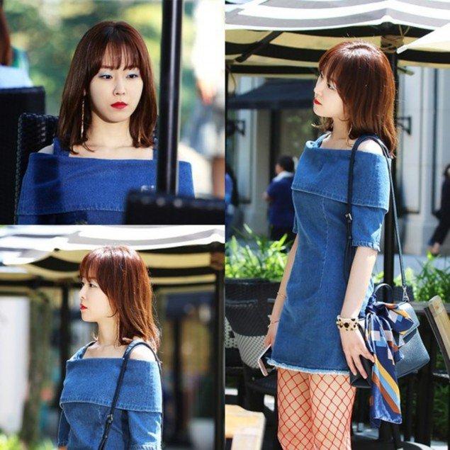 Nữ diễn viên Song Hye Kyo và Seo Hyun Jin rất xinh đẹp khi cùng diện chiếc váy bò hở vai.