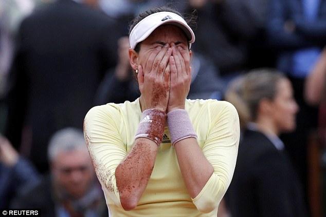 Cảm xúc vỡ oà của tân vương giải Pháp mở rộng... Ảnh: Reuters