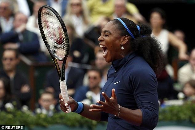 Serena và cảm xúc bất lực trước đối thủ Muguruza. Ảnh: Reuters