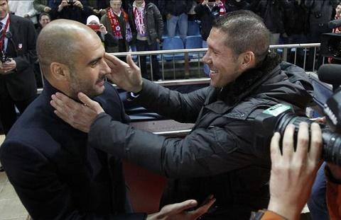Pep Guardiola và Diego Simeone sẽ là cuộc đọ sức đáng chú ý giữa 2 chiến lược gia hàng đầu châu Âu