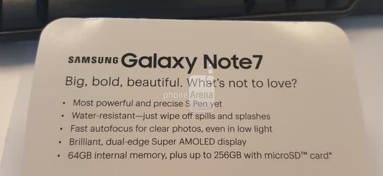 Một số thông tin về Galaxy Note 7 được tiết lộ