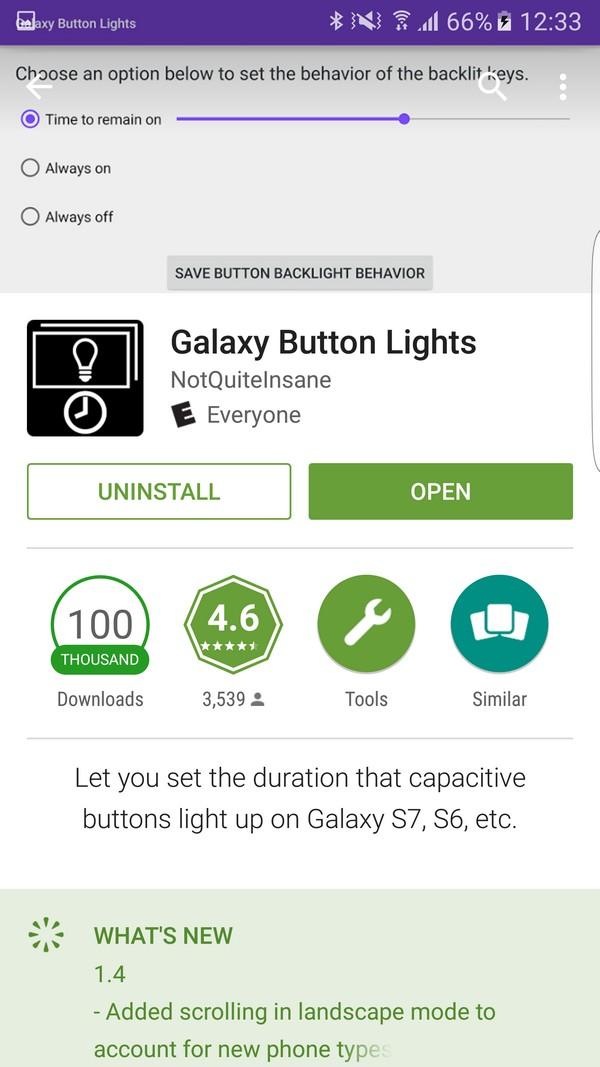 Tải ứng dụng Galaxy Button Lights miễn phí trên Play Store