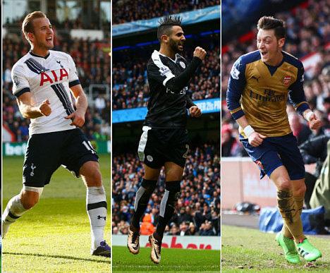 Leicester City, Arsenal và Tottenham sẽ bước vào cuộc đua tranh quyết liệt vào giai đoạn cuối mùa