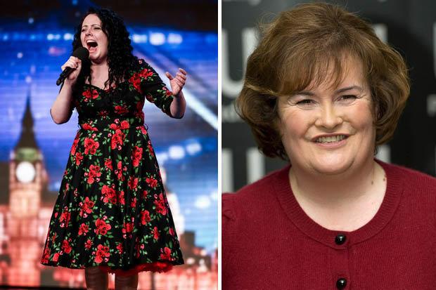 Thí sinh Kathleen Jenkins sở hữu giọng ca đẹp được ví von với Susan Boyle (Ảnh: Syco và Getty)