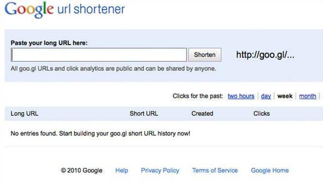Dịch vụ hỗ trợ rút gọn địa chỉ URL do Google cung cấp
