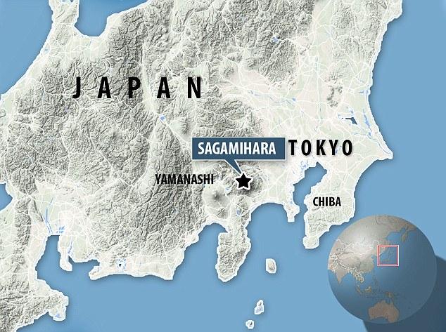 Địa điểm xảy ra vụ tấn công ở thành phố Sagamihara thuộc tỉnh Kanagawa.
