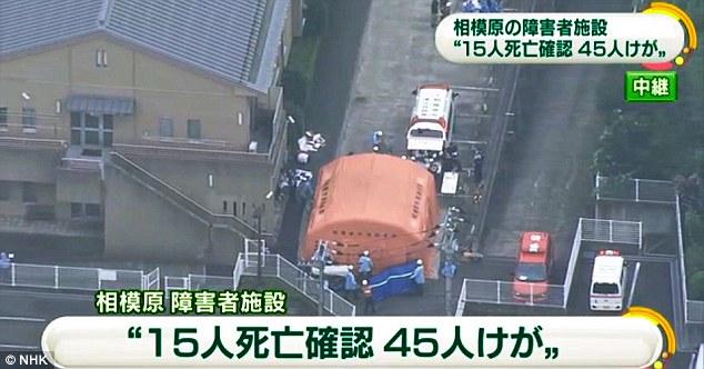 Kênh truyền hình quốc gia Nhật Bản NHK đưa tin, 15 người chết và 45 người bị thương.