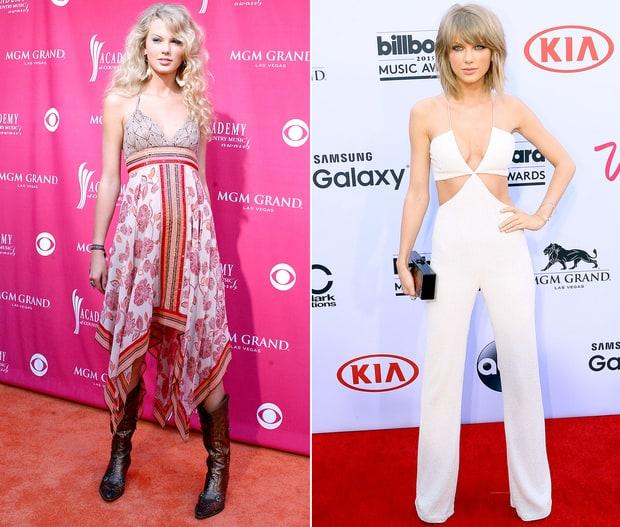 Sự khác biệt lớn nhất của Taylor Swift so với 10 năm trước có lẽ chính là mái tóc. Cô nàng đã cắt phăng mái tóc xoăn dài thướt tha để theo đuổi hình tượng cá tính hơn.