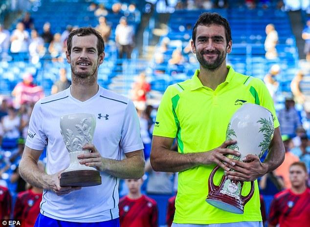 Andy Murray và Marin Cilic trên bục nhận giải