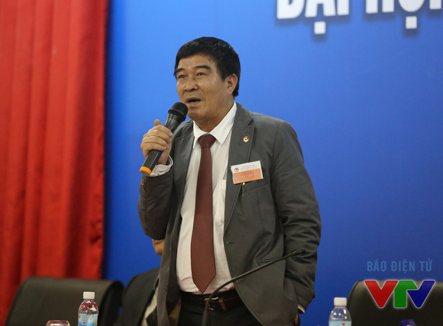 Phó Chủ tịch phụ trách truyền thông Nguyễn Xuân Gụ phát biểu
